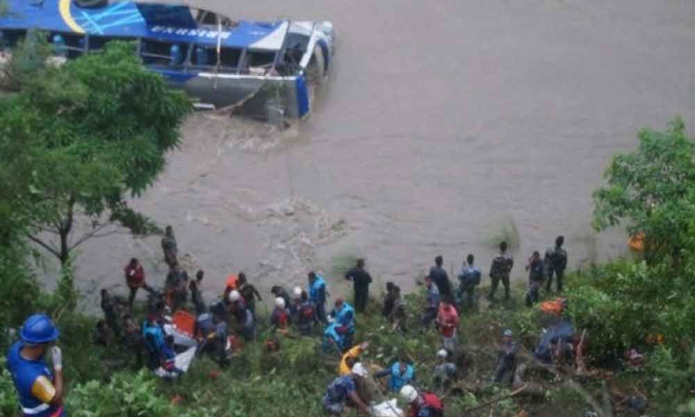 3 dead, 23 missing as bus plunges into Trishuli River in central Nepal