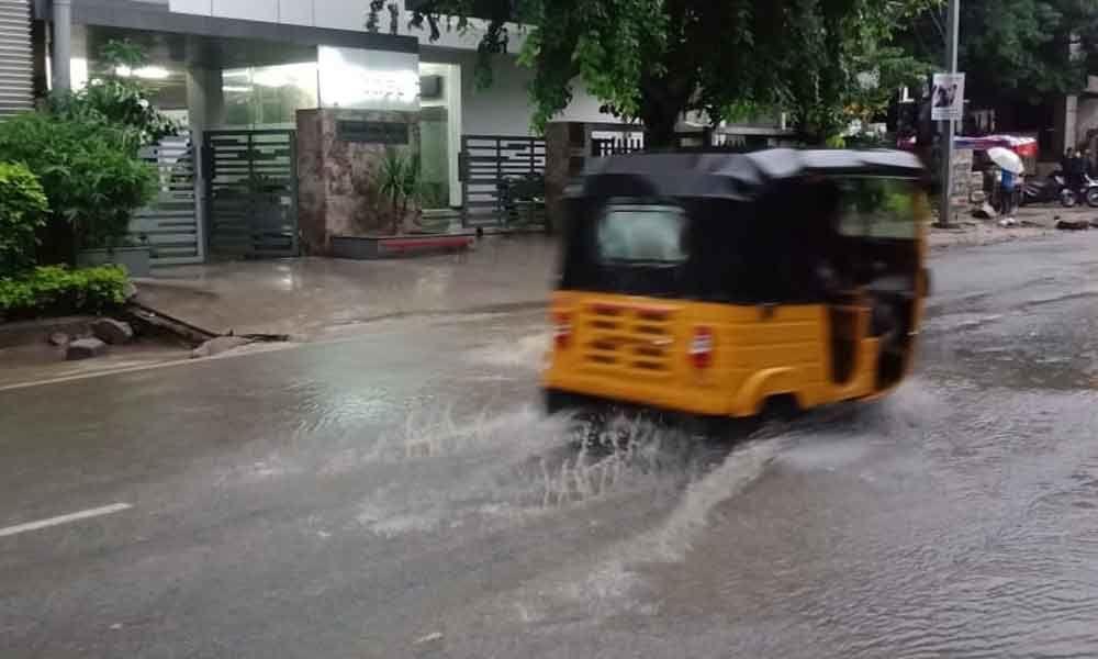 Drainage overflow in Kondapur