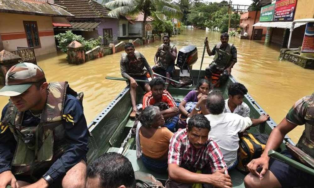 Pregnant woman, 6 others rescued in a daring act in flood-hit Kerala