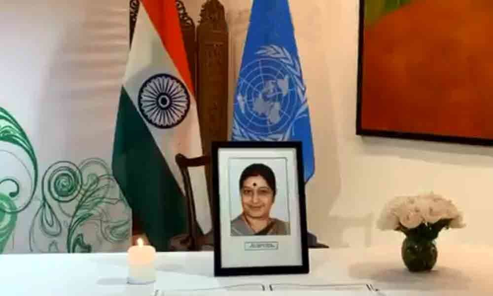 UN diplomats of 50 countries pay tribute to Sushma Swaraj