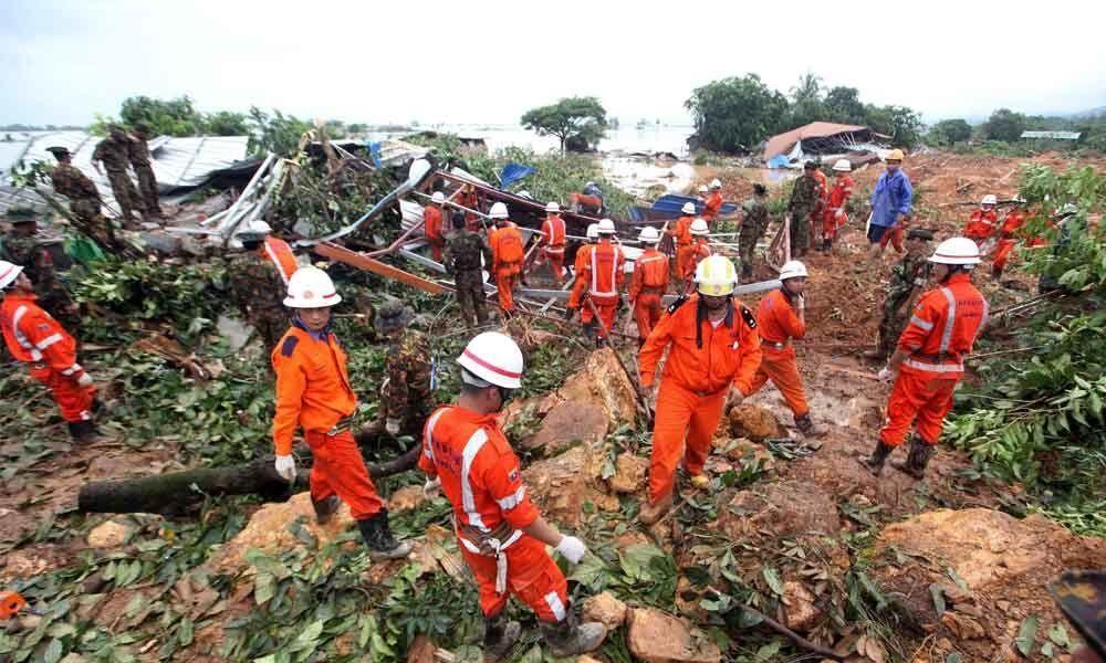 Myanmar landslide kills 34, more than 80 people feared missing