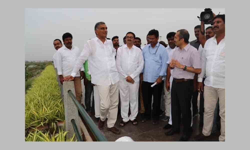 Harish Rao all praise for Bhadrakali bund in Warangal