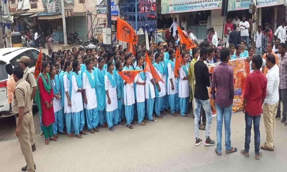 Akhil Bharatiya Vidyarthi Parishad demands death for rapist of minor