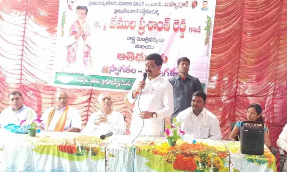 Achieving Bangaru Telangana with irrigation: Minister Vemula