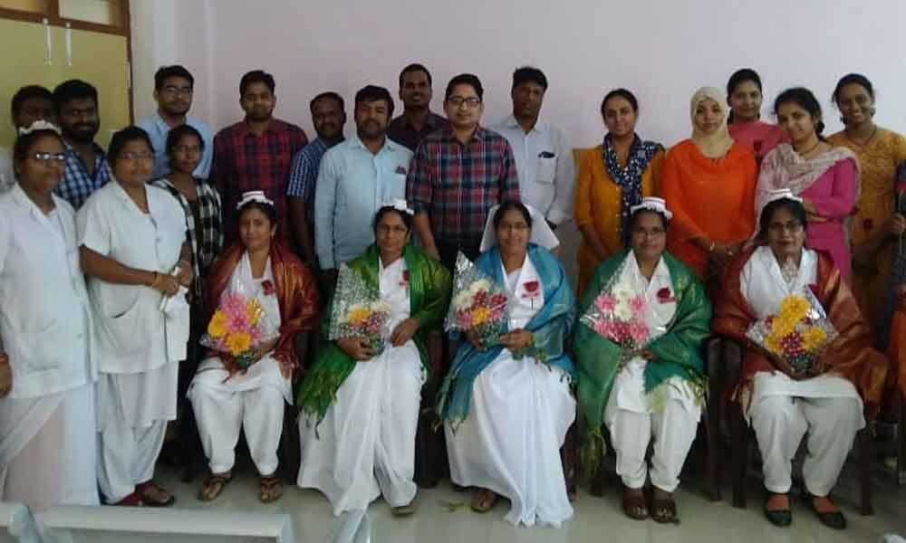TS Govt hospital nurses felicitated