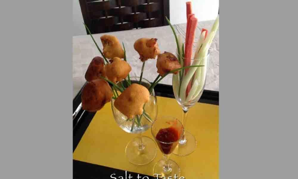 Cauliflower Lollipop Pakoras