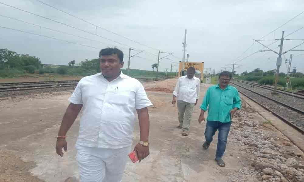 DRUCC member inspects railway works in Tanguturu