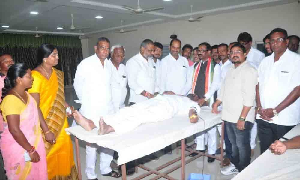 National Students Union of India organises blood donation camp in Khammam