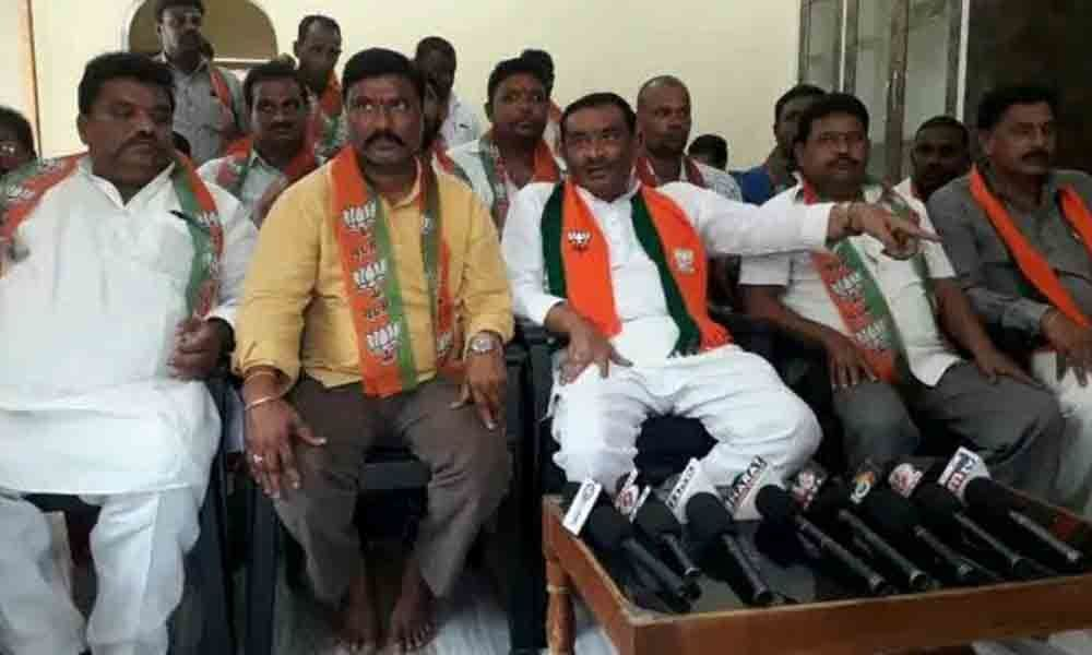 Peddapalli: BJP warns TRS for its derogatory comments