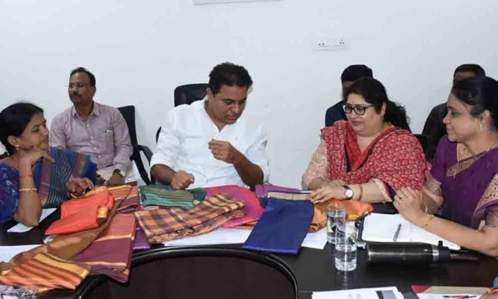 KTR reviews Group Workshed Scheme in Sircilla