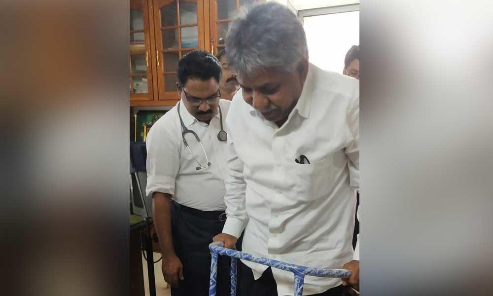 MRPS Manda Krishna suffers minor injury during morning walk