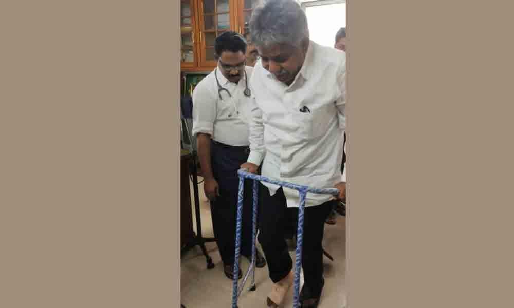 MRPS founder Manda Krishna Madiga suffers minor injury in Bhadrachalam