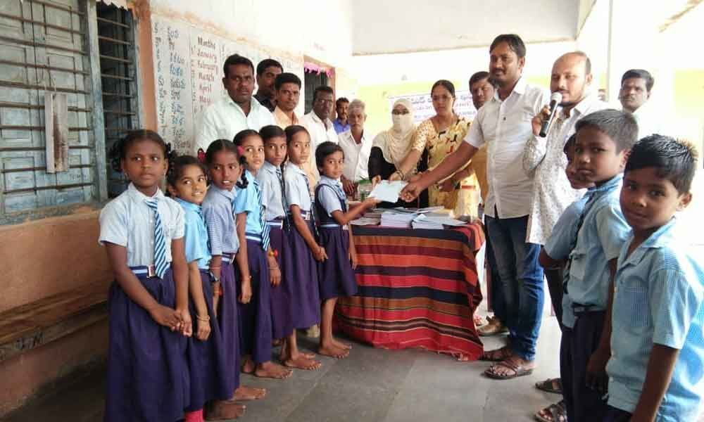 Workbooks gifted to govt school students