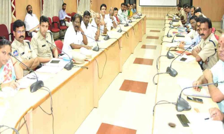 Collector reviews arrangements for Ganesh Chathurthi festival in Khammam