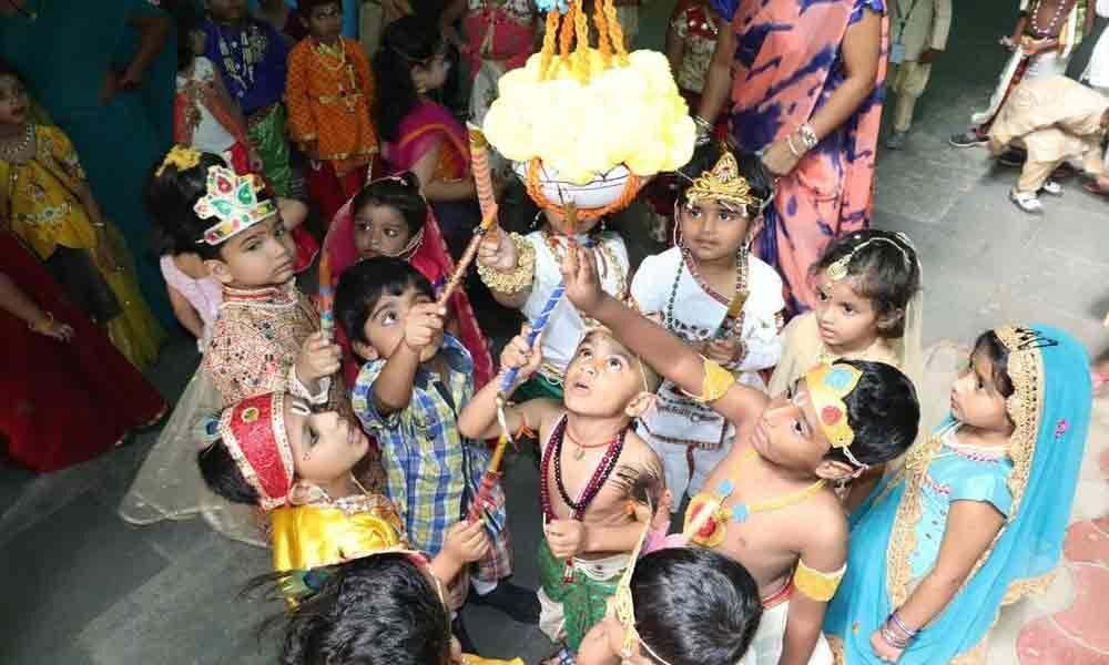 Krishnashtami celebrated at Delhi Public School