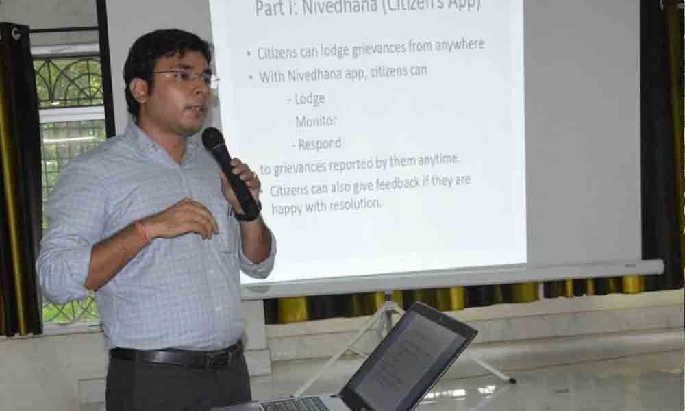 Awareness meet on Nivedana app held in Kothagudem