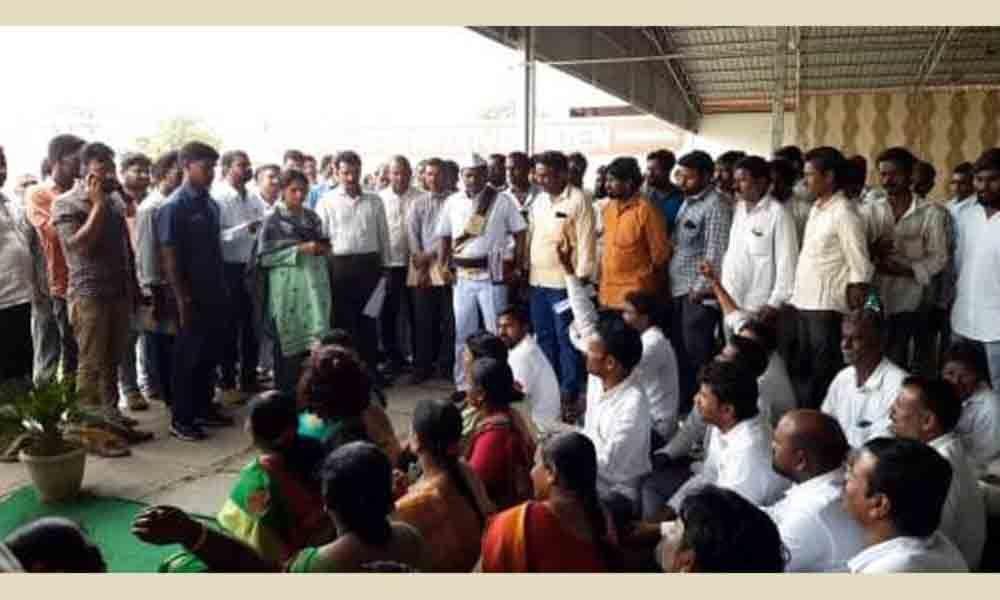 Sarpanches boycott Haritha Haram in Kodangal