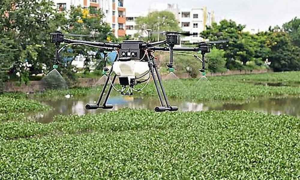 GHMC to use drones to kill mosquitoes and larvae in Hyderabad lakes