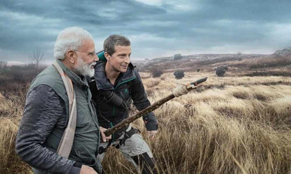 Remote translator helped while talking with Grylls:  Prime Minister Narendra Modi