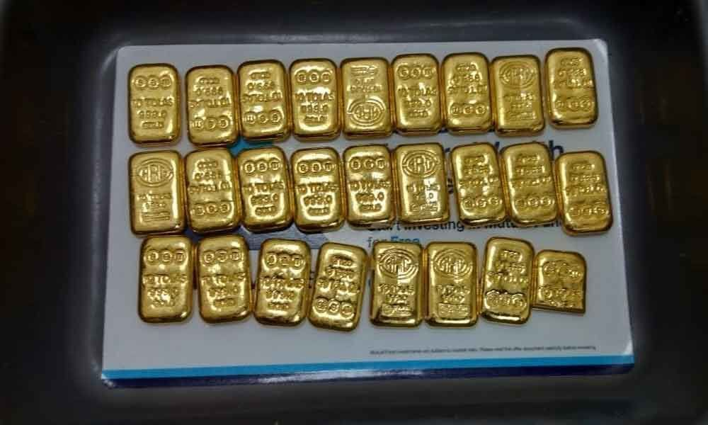 Customs officials seize Rs 1.11 crores gold at RGIA