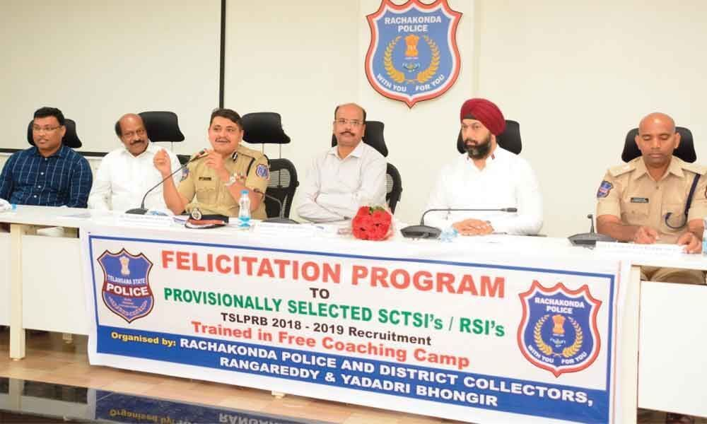 Rachakonda CP felicitates 33 candidates selected as SIs in Civil, AR and TSSP