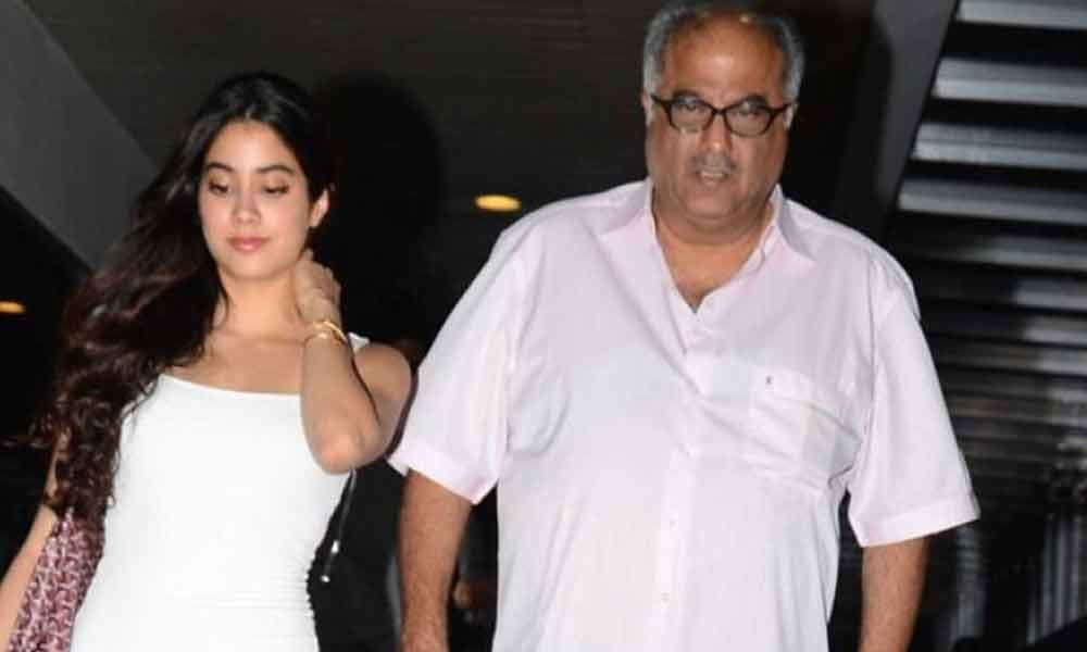 Boney Kapoor clarifies about the rumors on Janhvi
