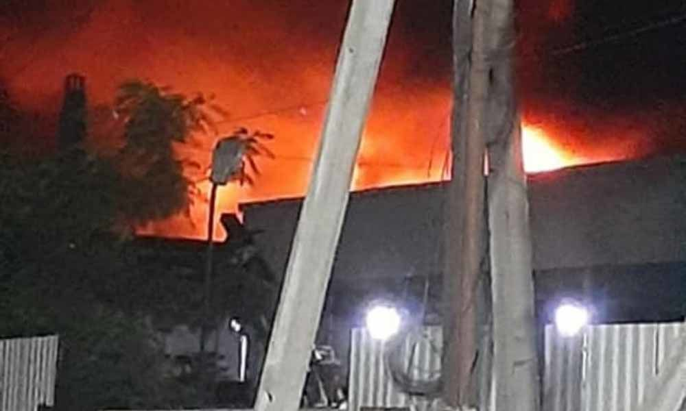 Fire accident in a chemical factory in Cherlapally Industrial area