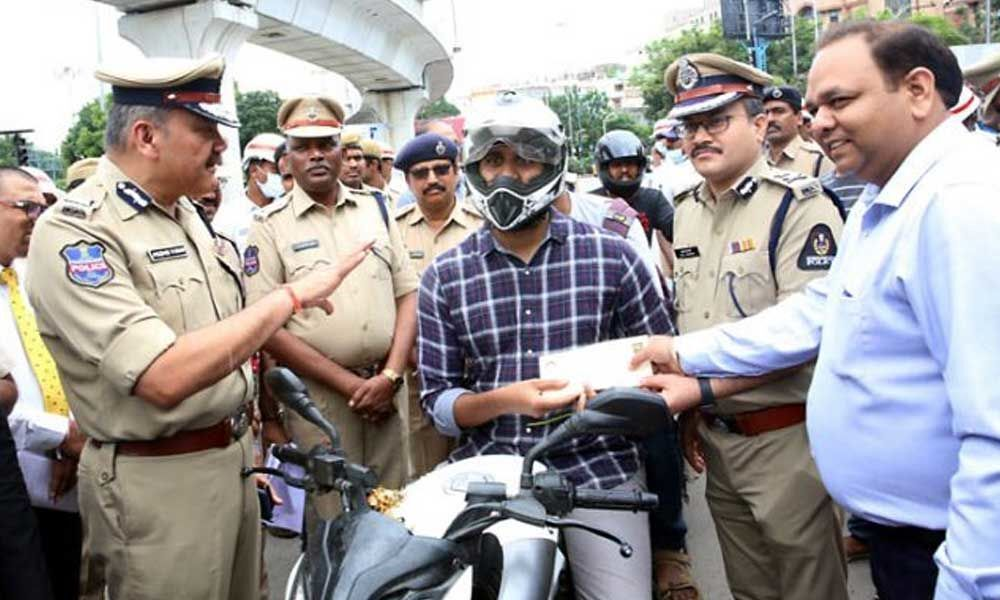 Hyderabad traffic police distribute free movie tickets for motorists following traffic rules