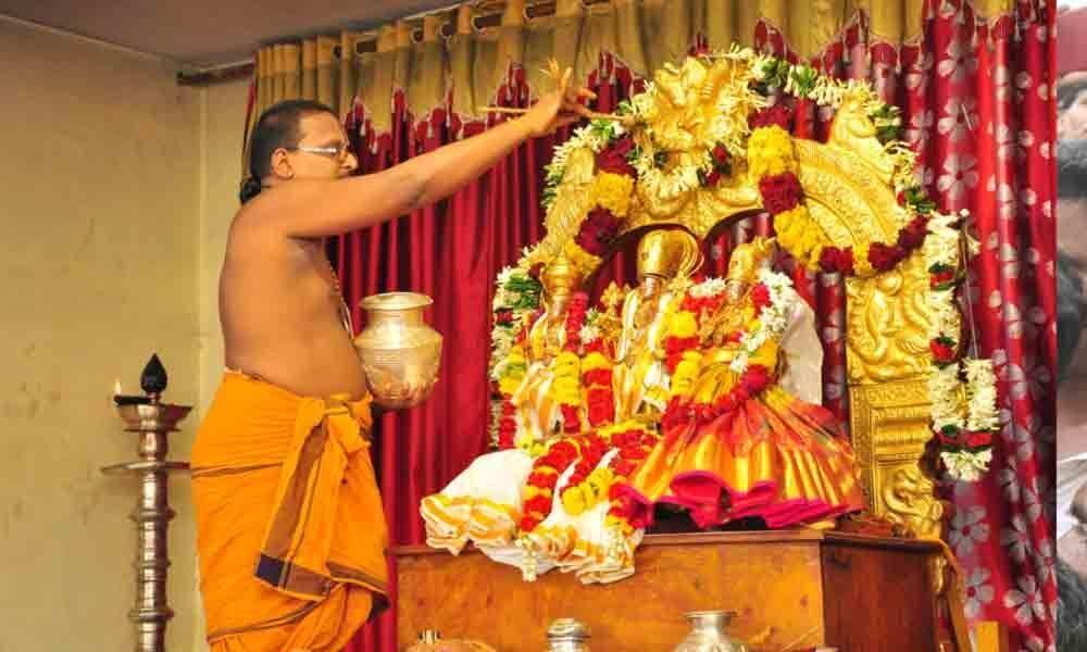 Pattabhishekam conducted at Lord Rama temple in Bhadrachalam
