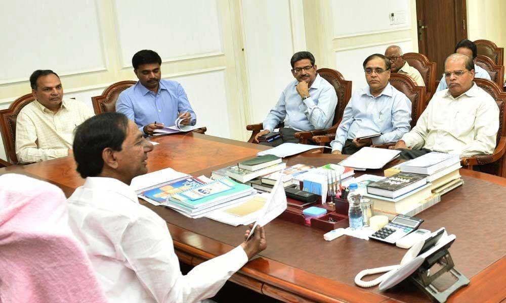 CM KCR reviews Palamuru project works