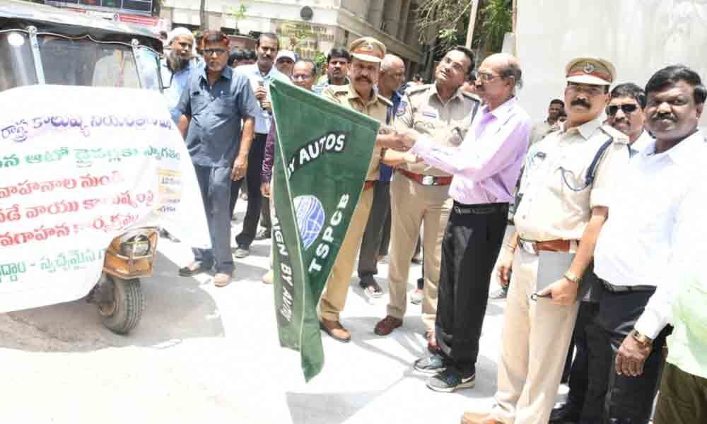 Hyderabad: TSPCB conducts rally on vehicular pollution