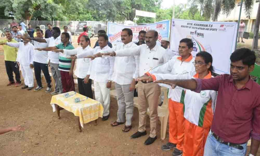 National Sports Day celebrated in Khammam