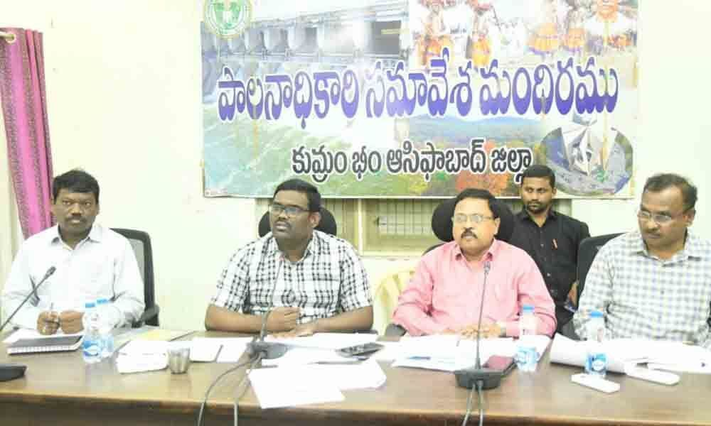 Clear all pending applications: Collector Rajiv Gandhi Hanumanthu