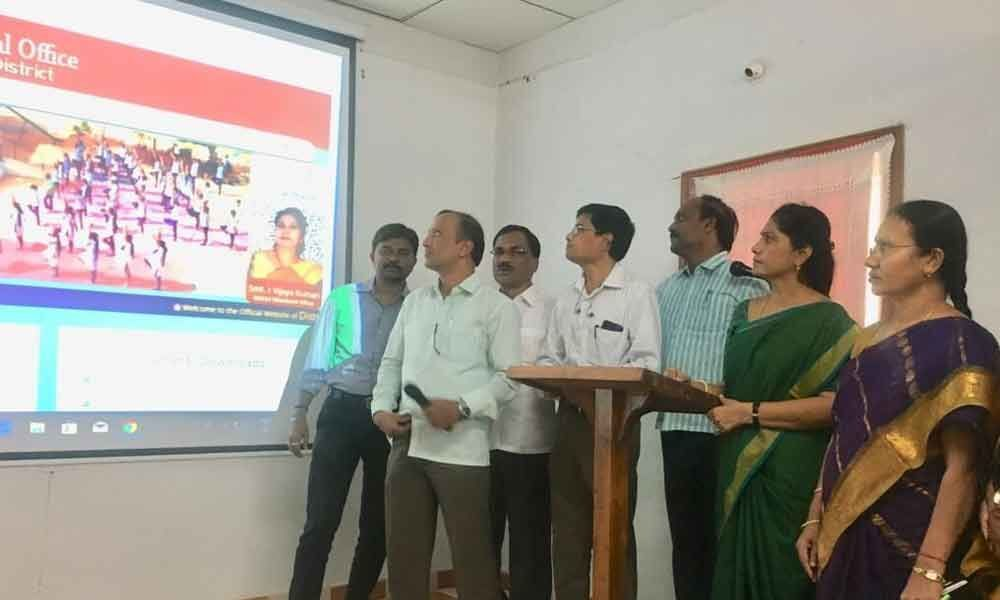 Education department website launched