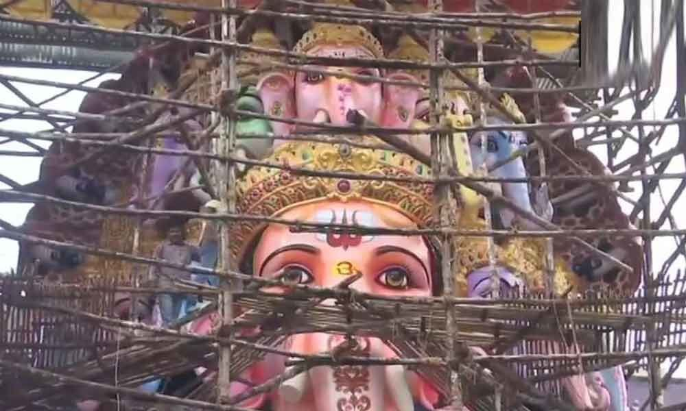 With 61 feet high, Khairatabad Ganesh claimed to be tallest idol in India