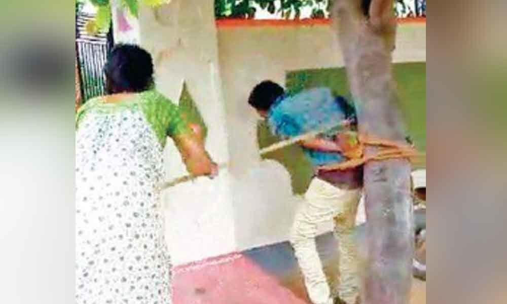 Man tied up to a tree and thrashed in Nalgonda for harassing woman