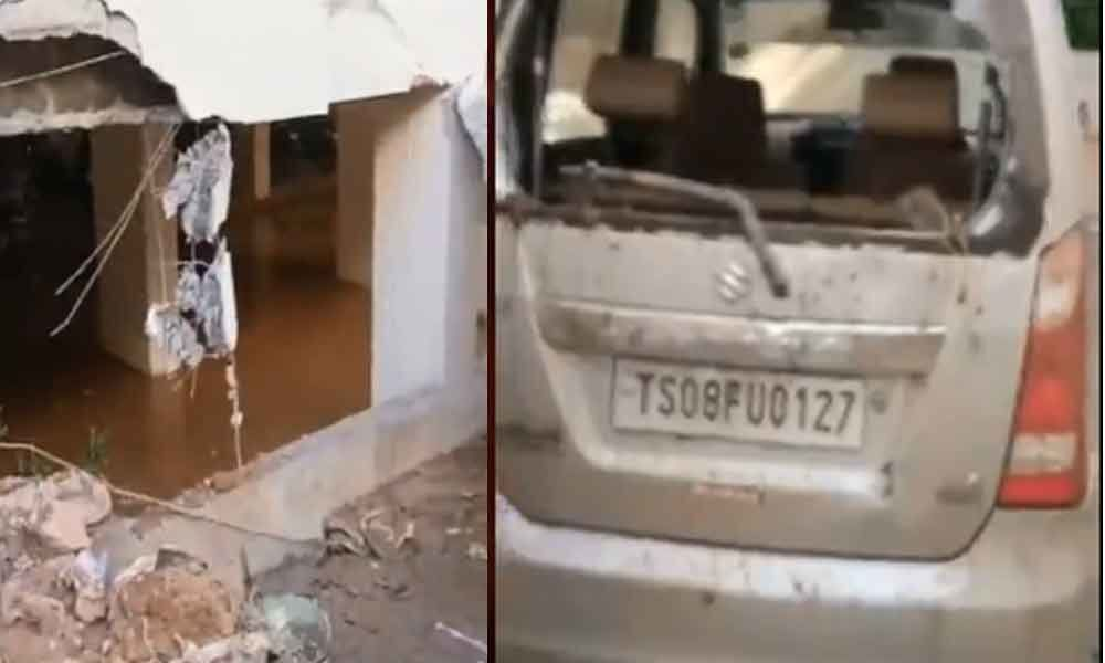 Hyderabad: Wall collapse in Kukatpally damages four cars