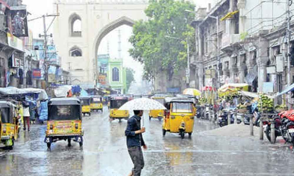 Parts of Hyderabad witness heavy rainfall