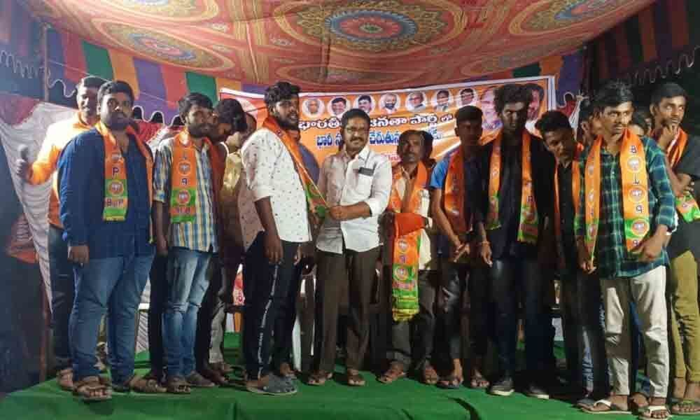 Allapur: 200 youth join BJP