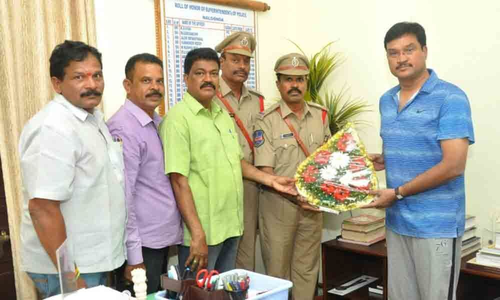 SP AV Ranganath advises newly promoted ASIs to render dedicated service in Nalgonda
