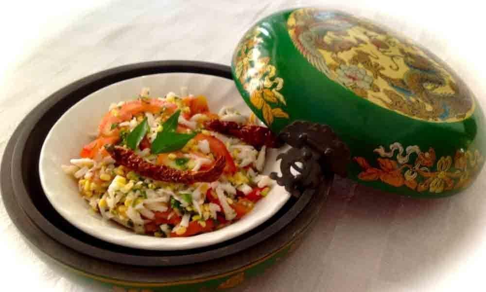 Radish & Green Gram Salad