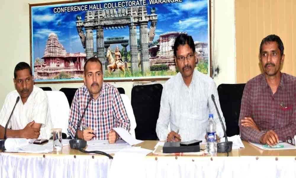 Warangal Urban Collector reviews land record purification works