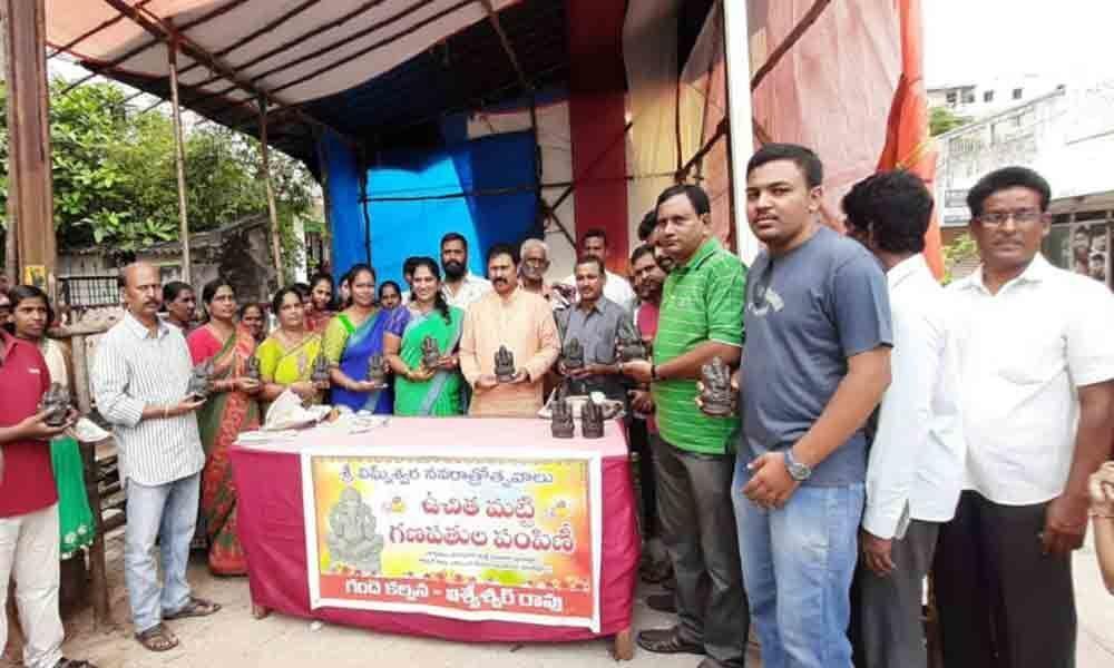 Opt eco-friendly Ganesh Idols in Karimnagar