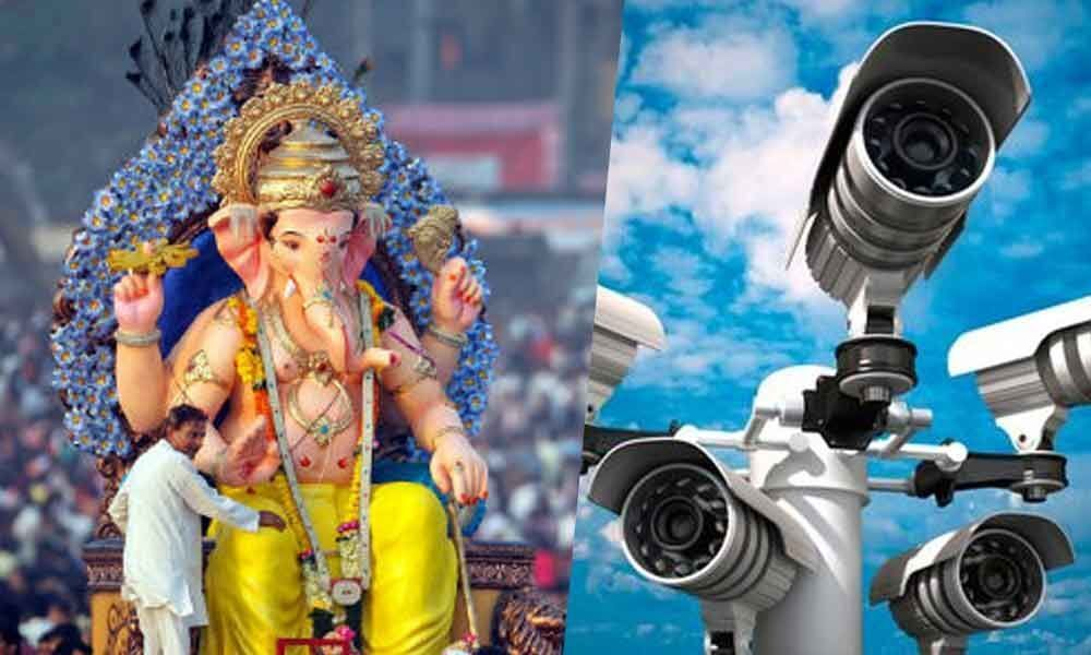 Tight security for towering Ganesha