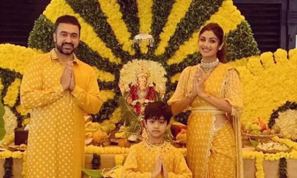 Ganesh Chaturthi: Yellow themed celebrations this year at Shilpa Shetty