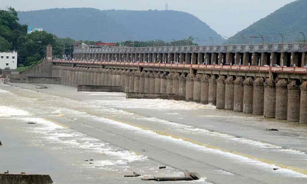 Prakasam Barrage receives floodwater in Vijayawada