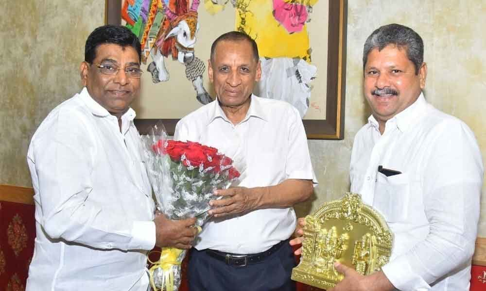 Nama calls on outgoing Governor Narasimhan
