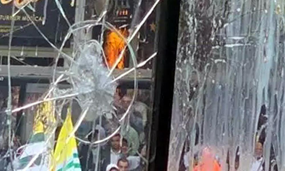 Protest at Indian High Commission in London over Kashmir turns violent