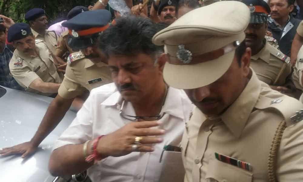 Protest, shutdown after D K Shivakumars arrest affects parts of Karnataka