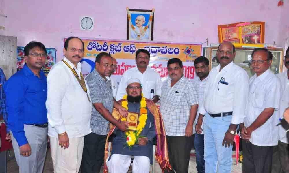 Rotary Club celebrates Teachers Day in Bhadrachalam